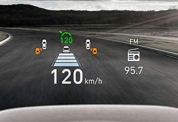Проекційний дисплей - Hyundai Santa Fe New