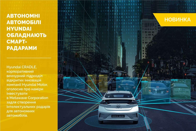 Автономні автомобілі Hyundai обладнають інтелектуальними радарами Metawave