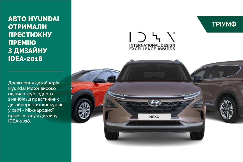 Три моделі Hyundai отримали престижну премію з дизайну IDEA-2018