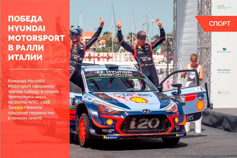 Юбилейная победа Hyundai Motorsport в ралли Италии