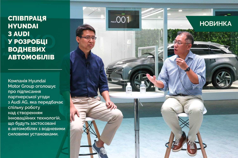Hyundai Motor Group співпрацюватиме з Audi у розробці водневих автомобілів