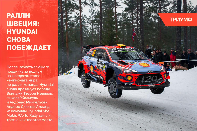 Ралли Швеция: Hyundai снова празднует победу