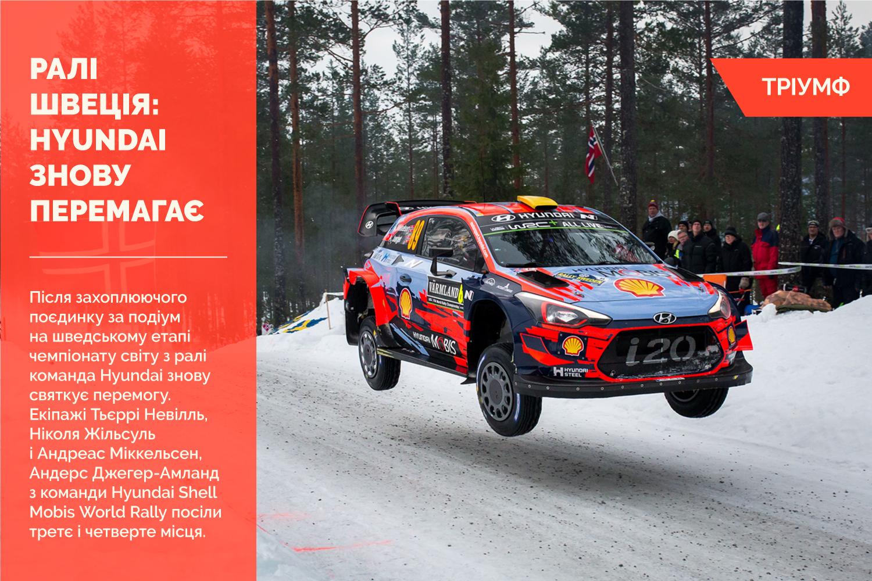 Ралі Швеція: Hyundai знову святкує перемогу