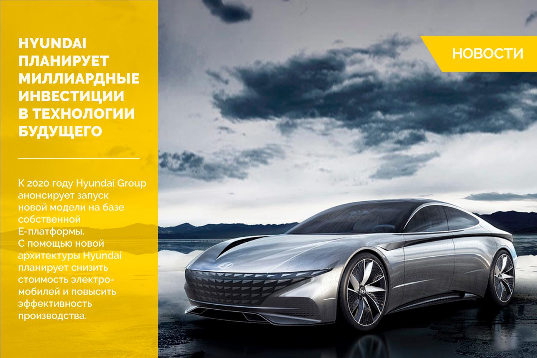 Hyundai планирует миллиардные инвестиции в технологии будущего
